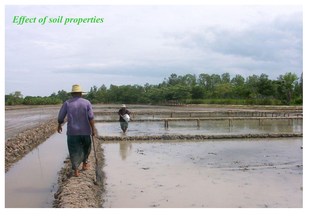 Effect of soil properties