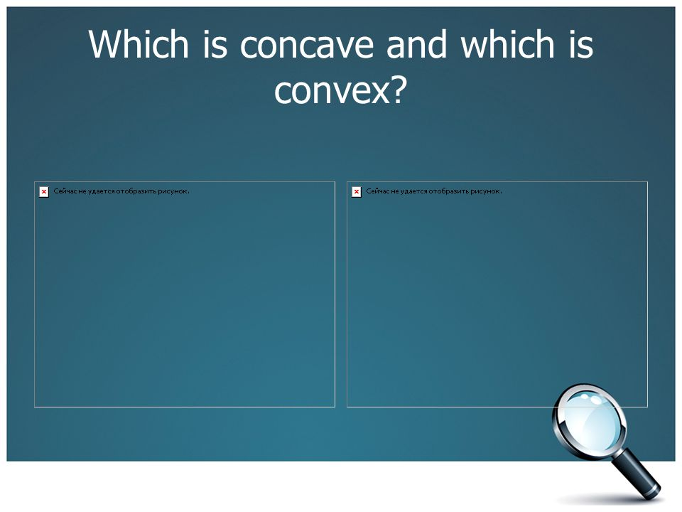 Which is concave and which is convex?
