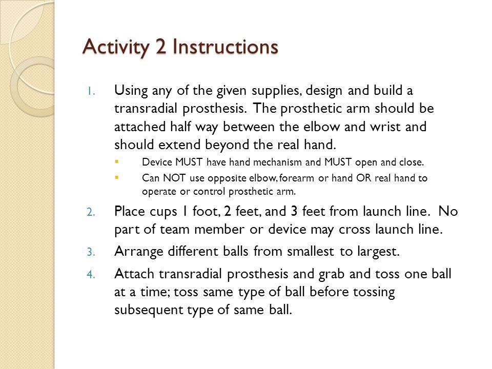 Activity 2 Instructions 1.