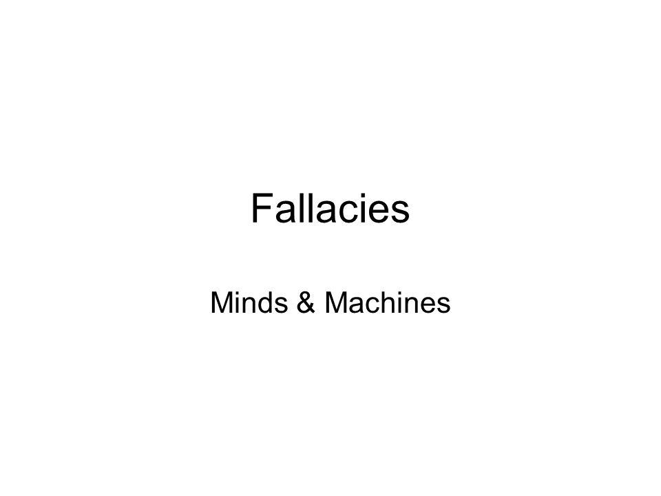 Fallacies Minds & Machines