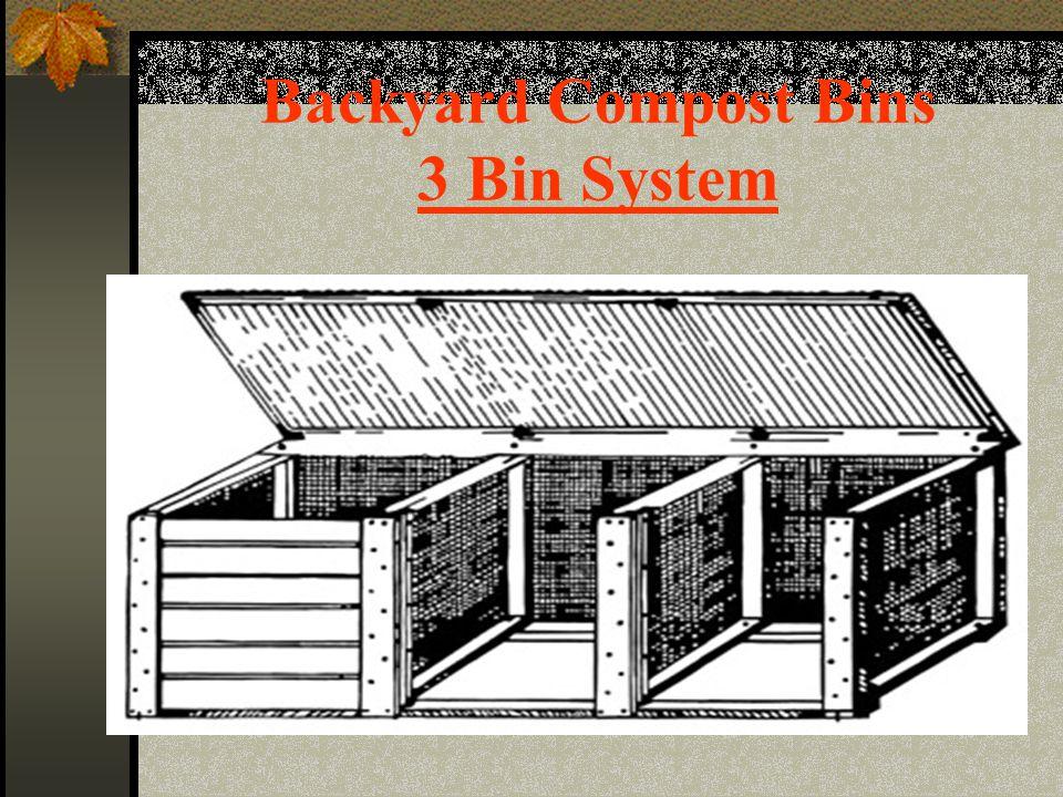 Backyard Compost Bins 3 Bin System