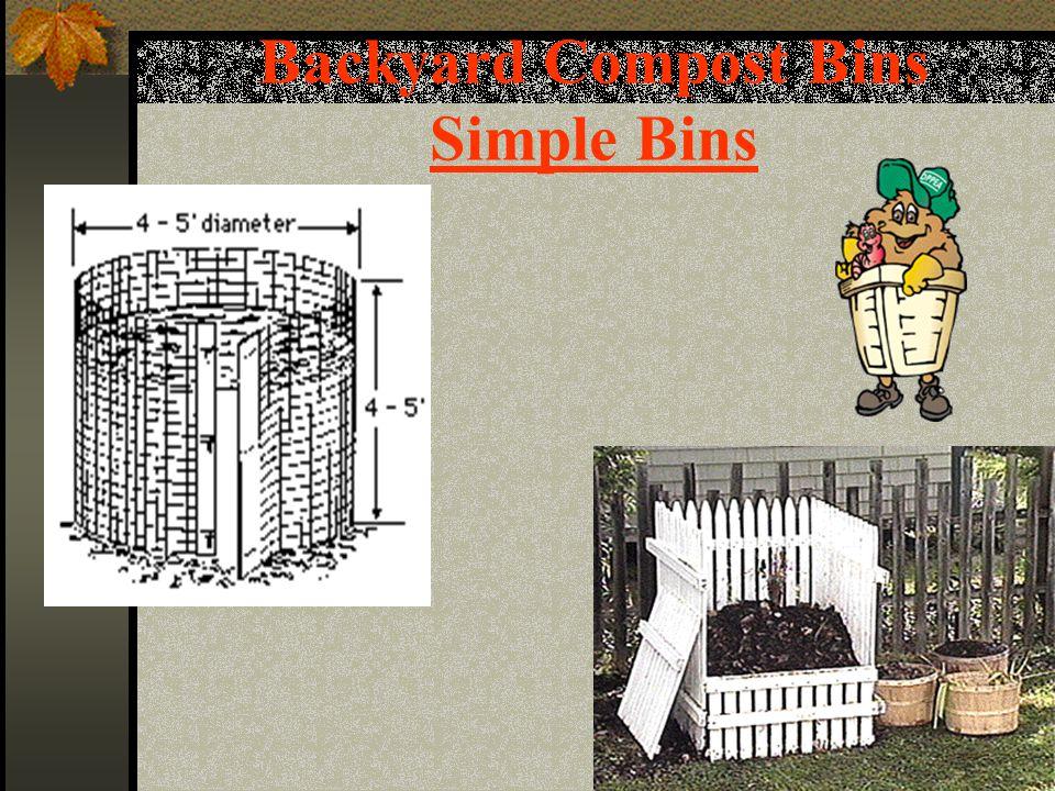 Backyard Compost Bins Simple Bins