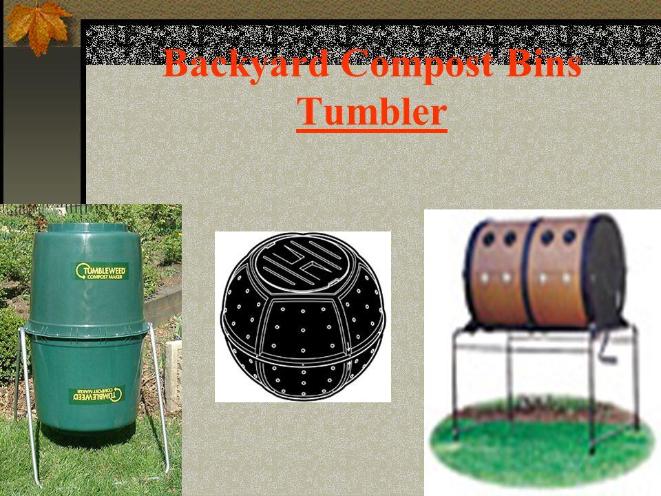 Backyard Compost Bins Tumbler