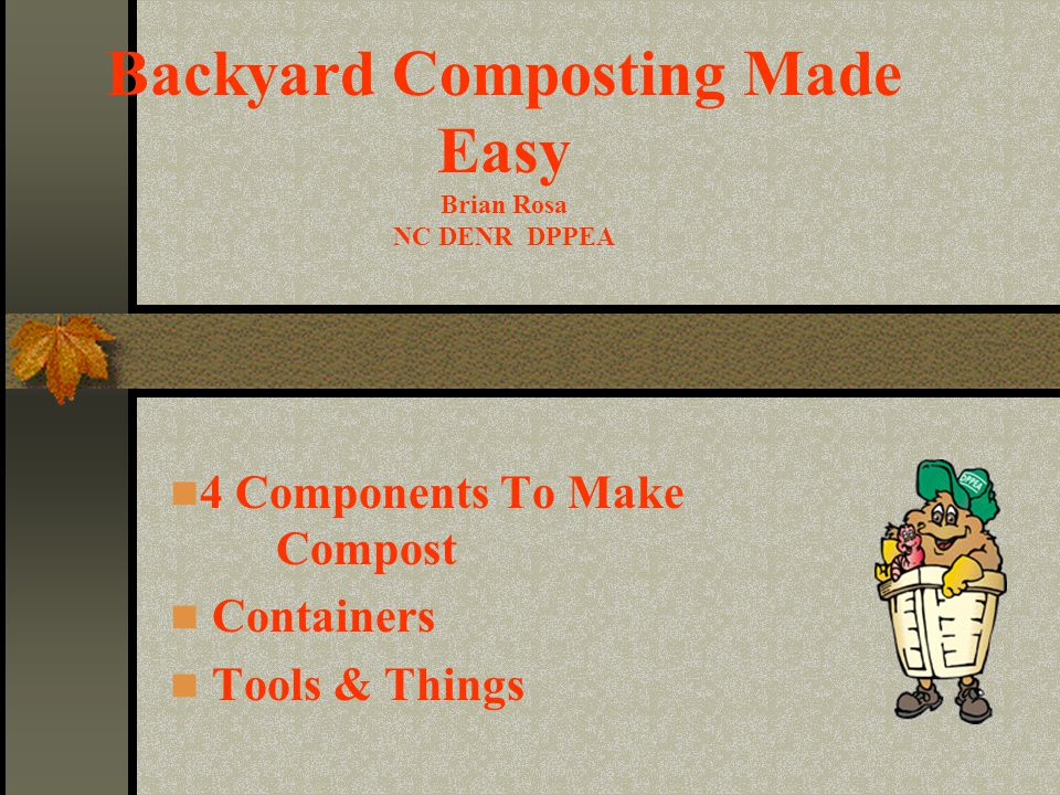 4 Components To Make Compost Containers Tools & Things