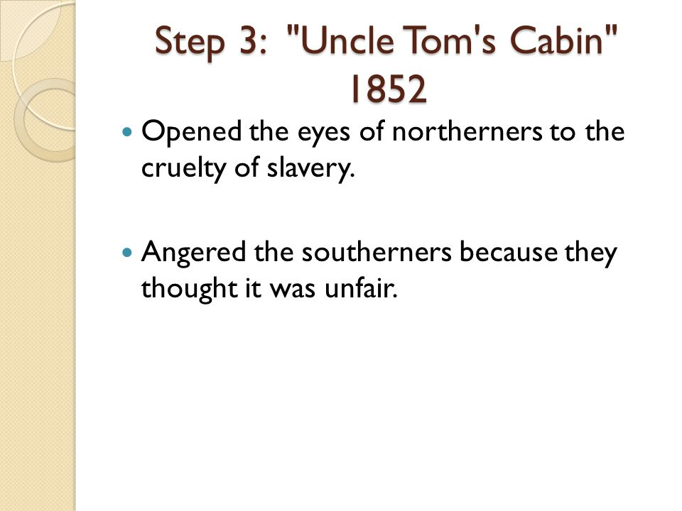 Opened the eyes of northerners to the cruelty of slavery.