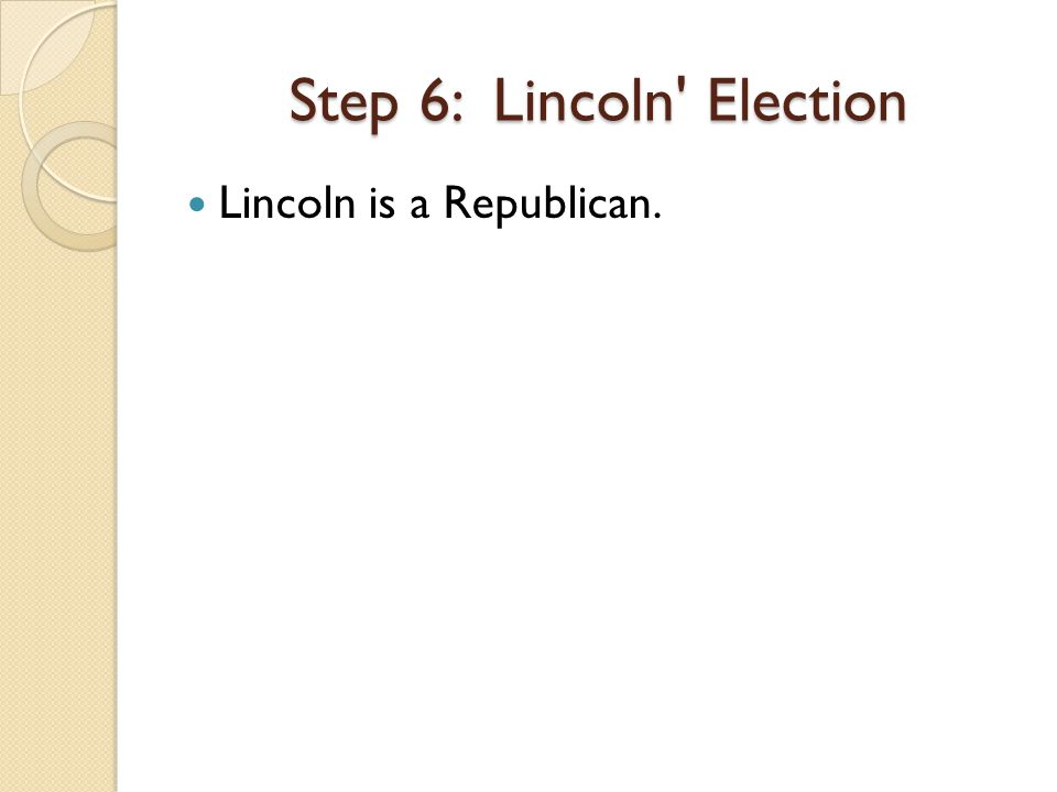 Lincoln is a Republican.