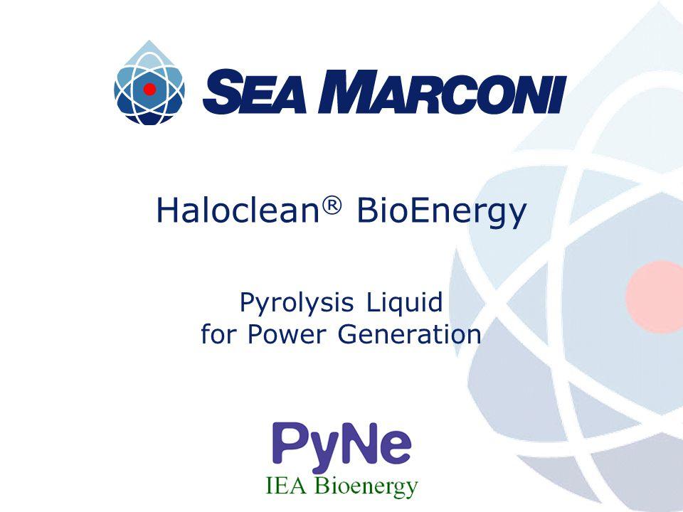 Haloclean ® BioEnergy Pyrolysis Liquid for Power Generation