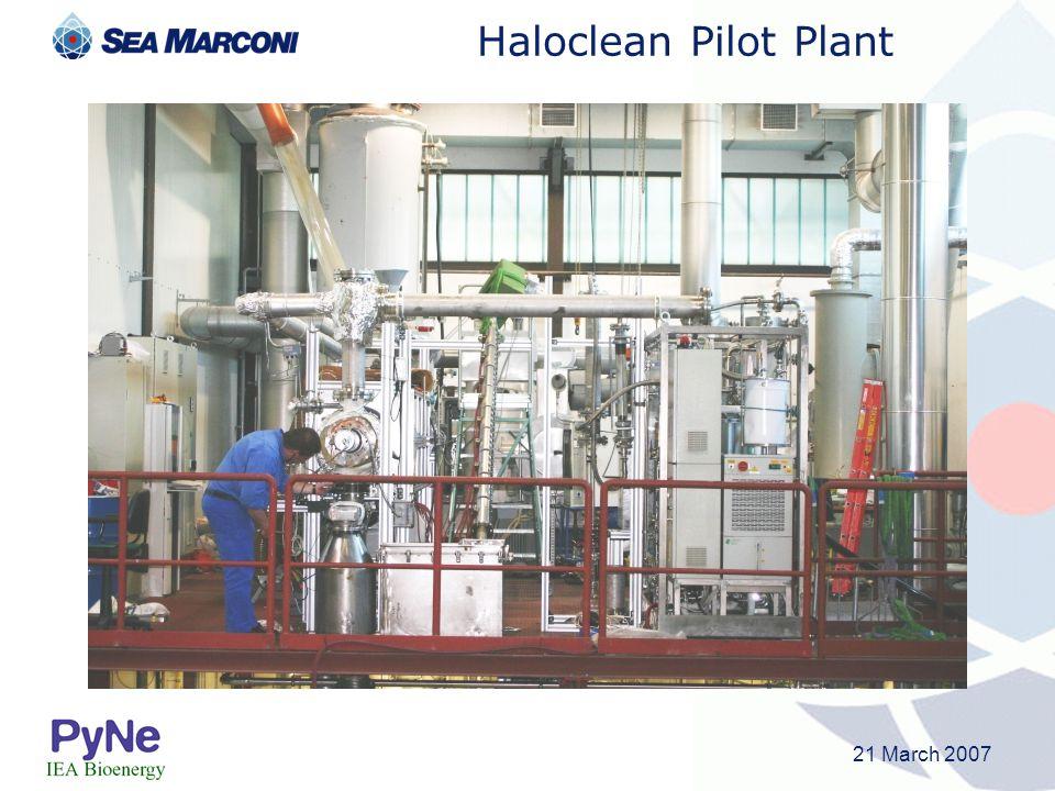 21 March 2007 Haloclean Pilot Plant