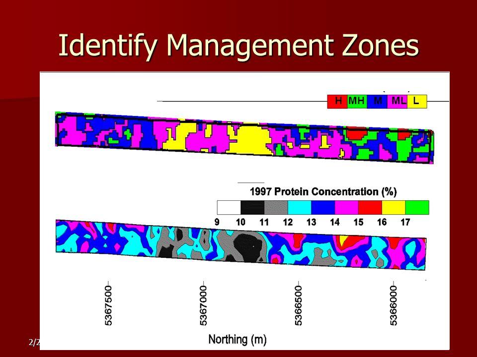 2/20/2007 Identify Management Zones 1999 H MH M ML L ZONE