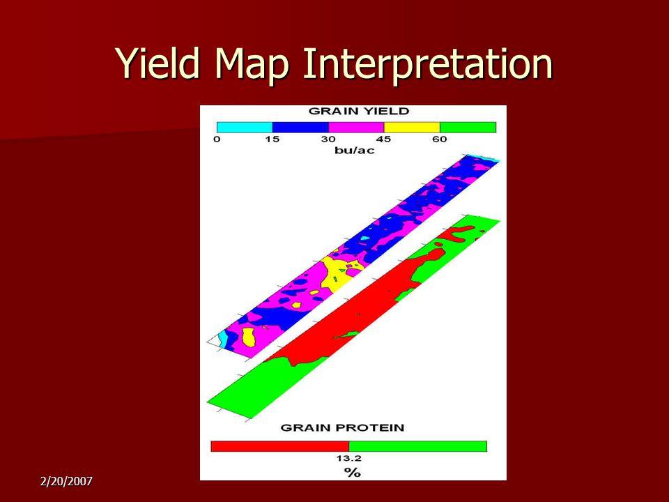 2/20/2007 Yield Map Interpretation sufficientdeficient