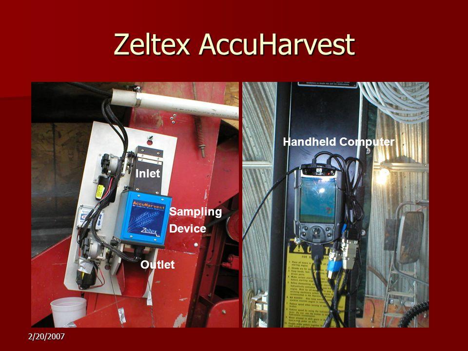 2/20/2007 Zeltex AccuHarvest Handheld Computer Inlet Outlet Sampling Device