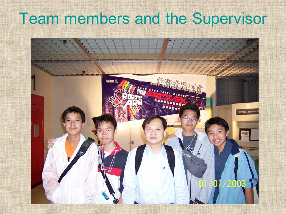 Knowledge and skill gained 1.Know how to share duties for the project 2.Learn more about the engineering material and mechanism 3.Synthesis skills to make a robotic arm 4.Know something about the City University of Hong Kong 5.Apply the PowerPoint techniques to do oral presentation 6.Apply the digital image processing skills for the written report It should be a good opportunity to learn something about the material science and mechanism.