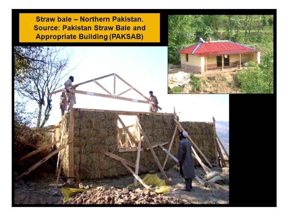 Straw bale – Northern Pakistan. Source: Pakistan Straw Bale and Appropriate Building (PAKSAB)