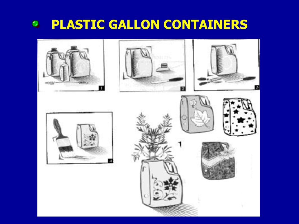 PLASTIC GALLON CONTAINERS