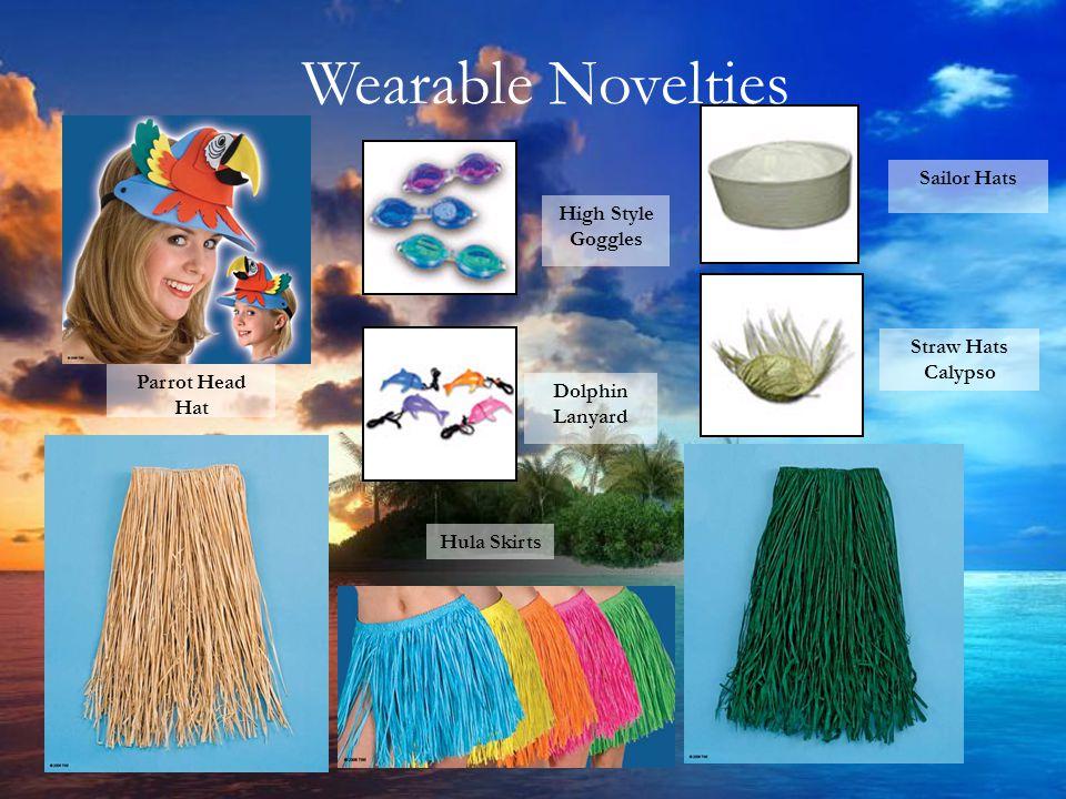 Hula Skirts Parrot Head Hat Straw Hats Calypso Sailor Hats High Style Goggles Dolphin Lanyard Wearable Novelties