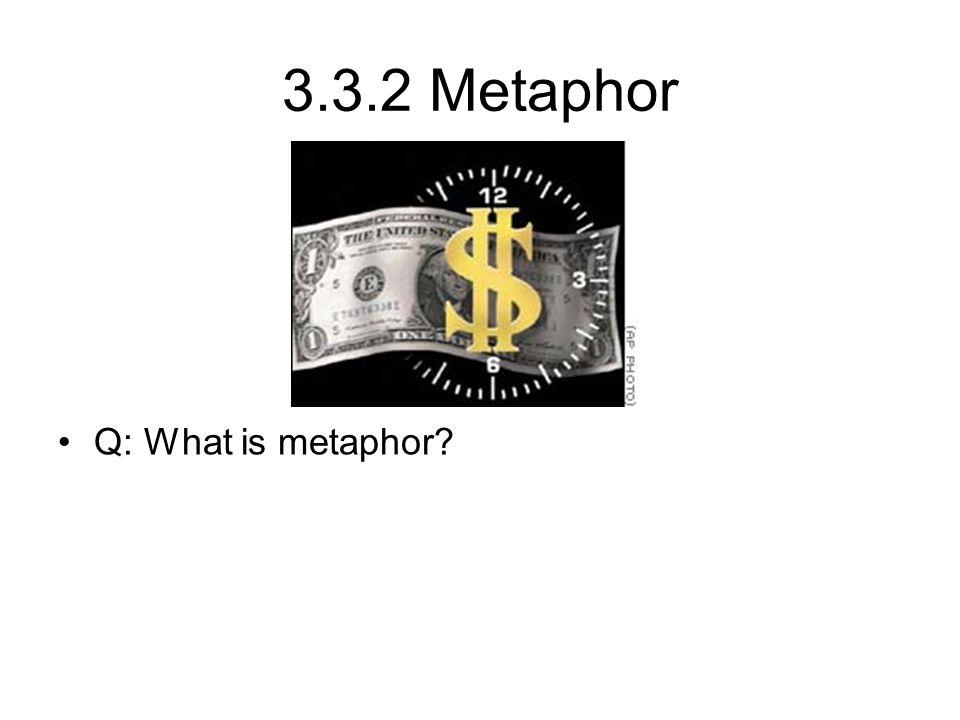 3.3.2 Metaphor Q: What is metaphor