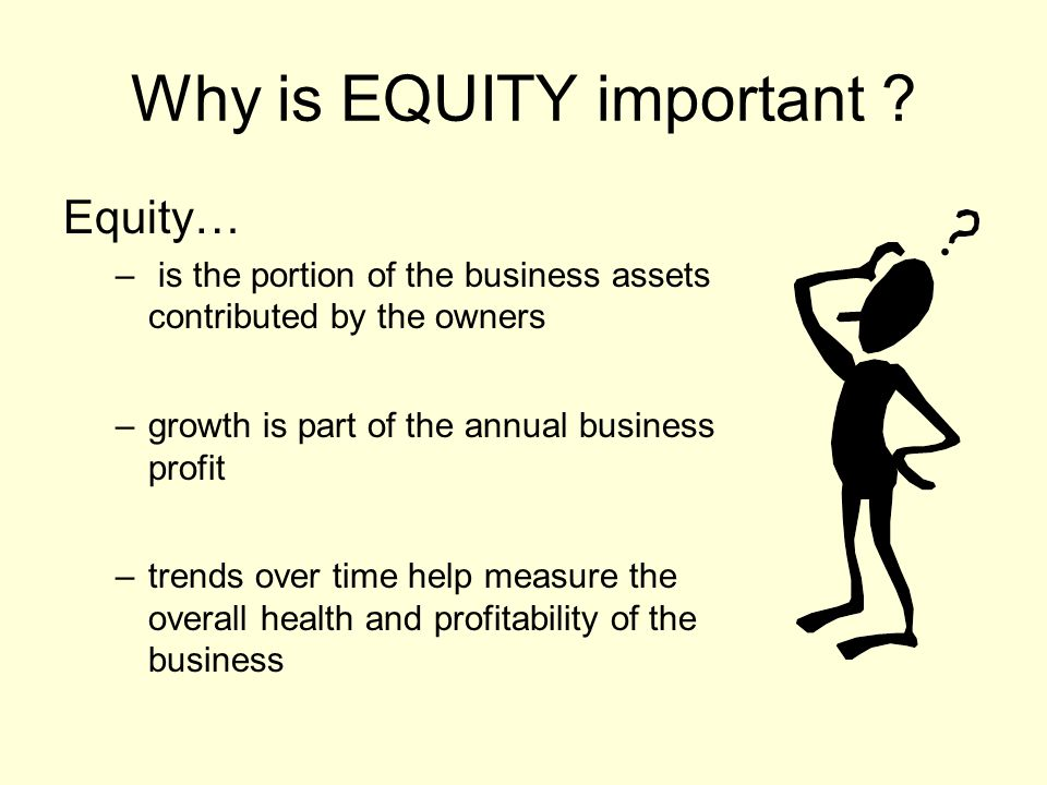 Why is EQUITY important .