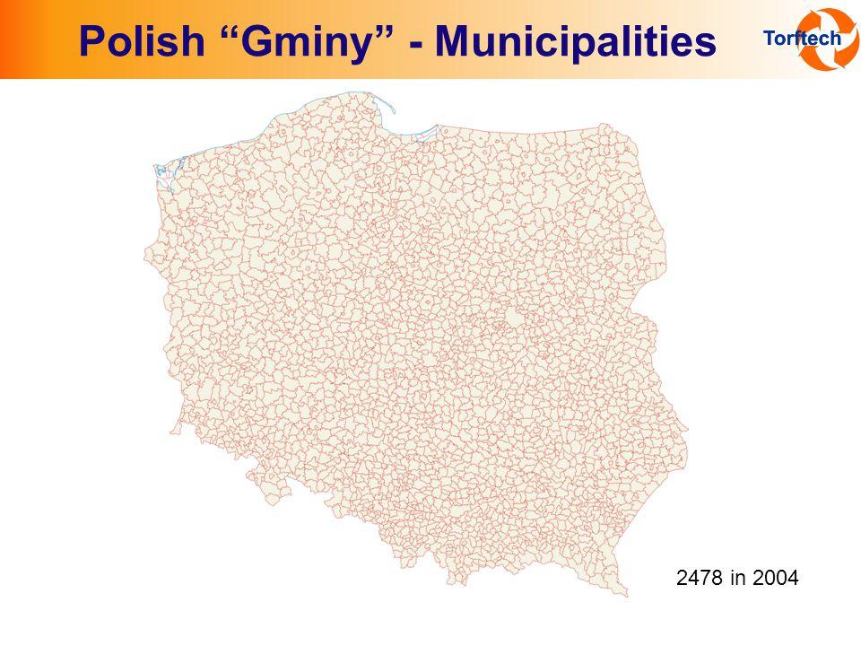 Polish Gminy - Municipalities 2478 in 2004