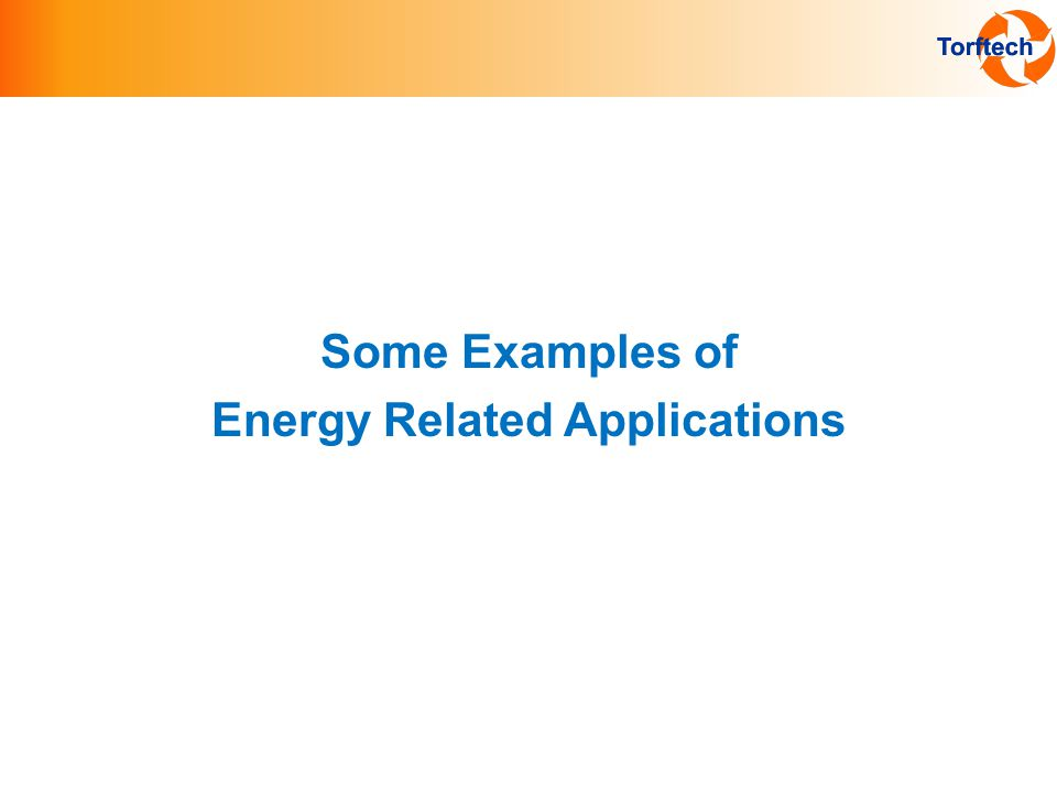 Some Examples of Energy Related Applications