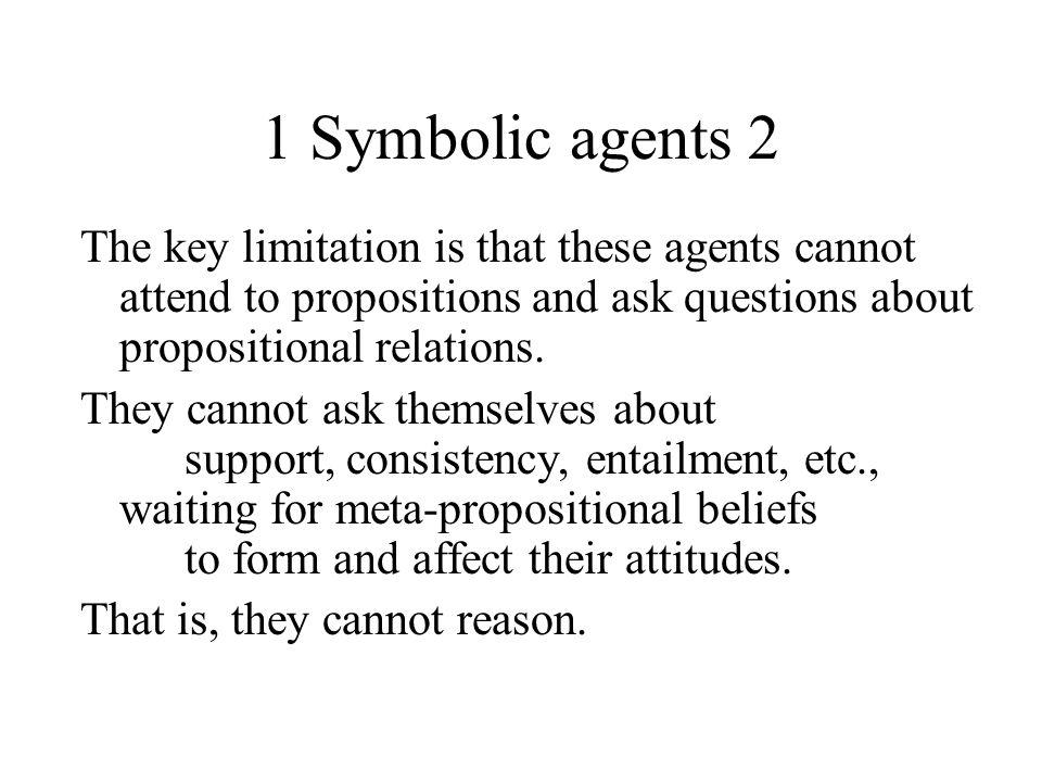 1 Symbolic agents 3 We can reason because we use symbols.