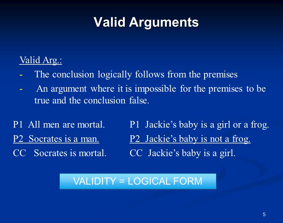 6 Valid Arguments Attention.