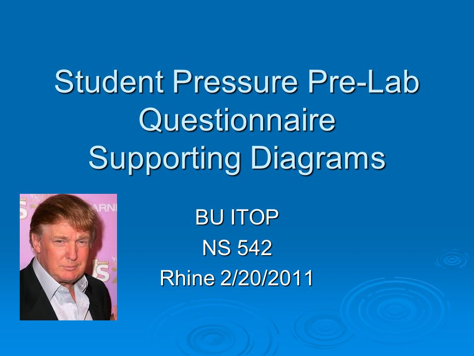 Student Pressure Pre-Lab Questionnaire Supporting Diagrams BU ITOP NS 542 Rhine 2/20/2011