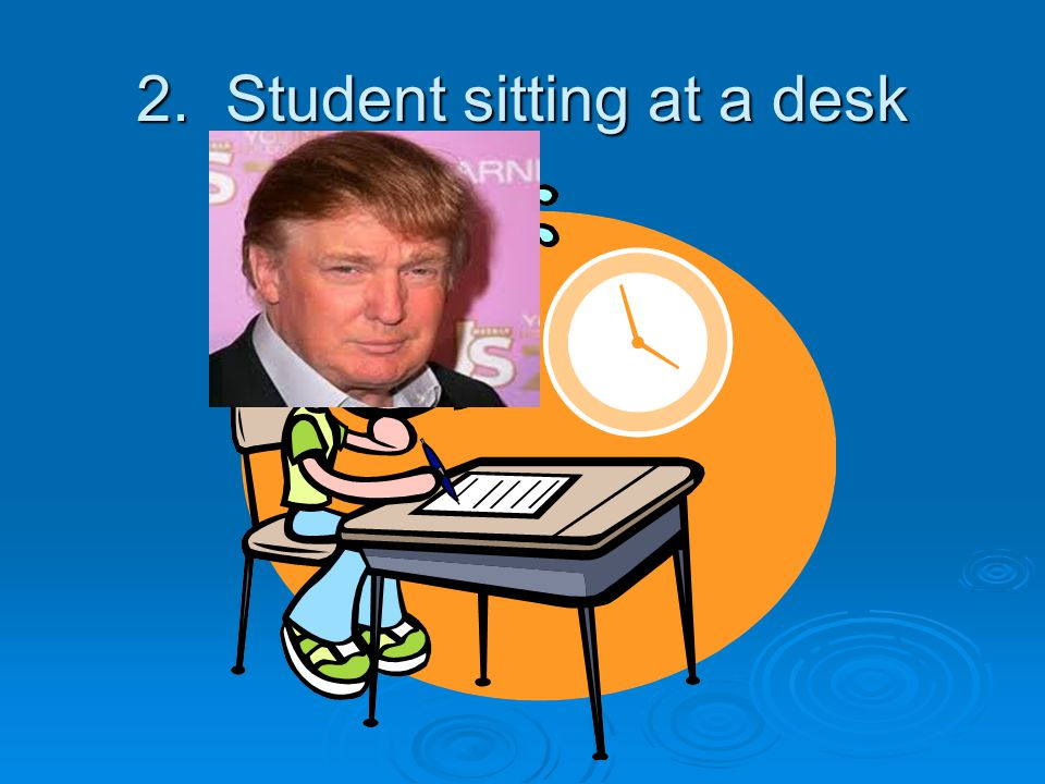 2. Student sitting at a desk