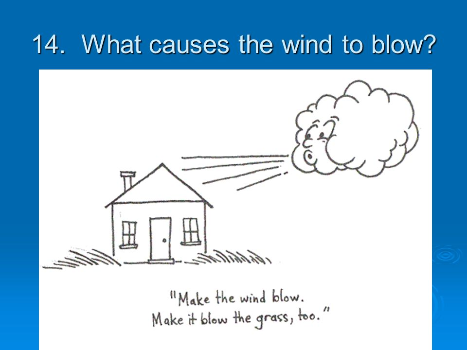 14. What causes the wind to blow
