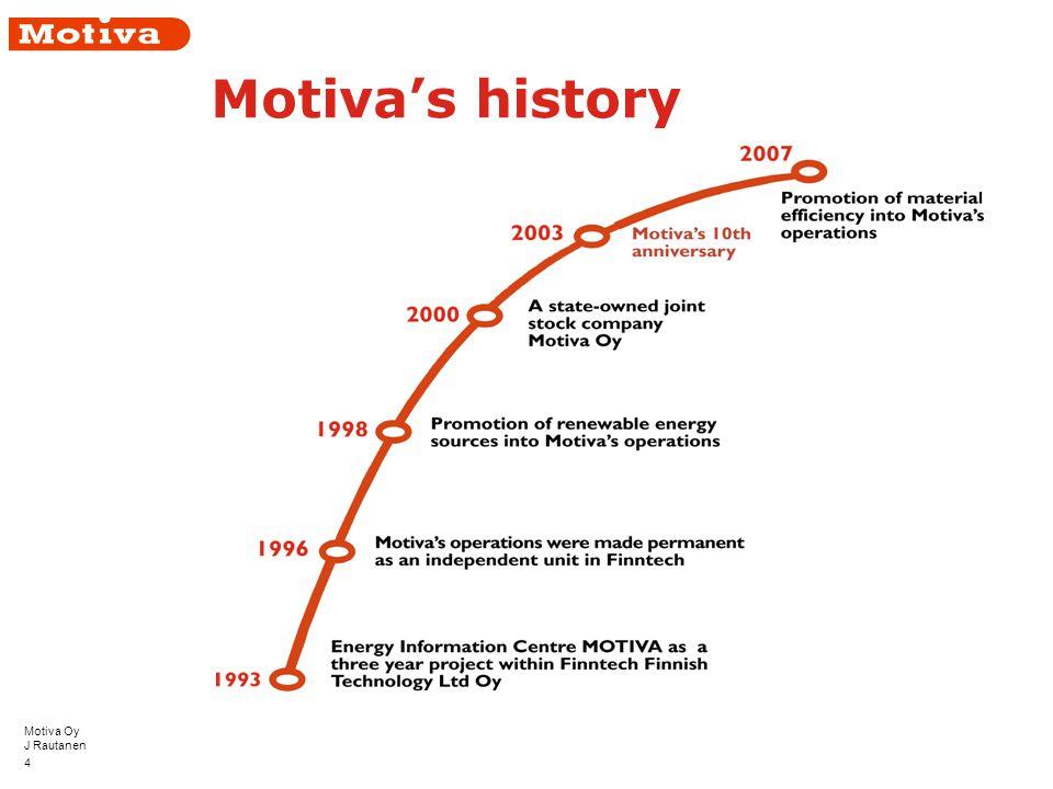 Motiva Oy J Rautanen 4 Motiva's history