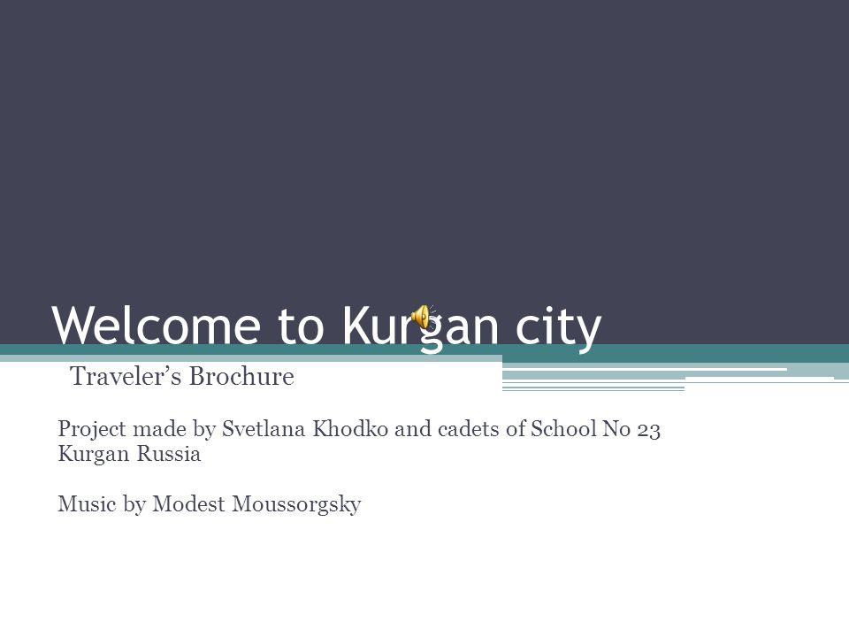 Kurgan Region on the Map of Russia Kurgan is the city and the administrative centre of the Kurgan region.