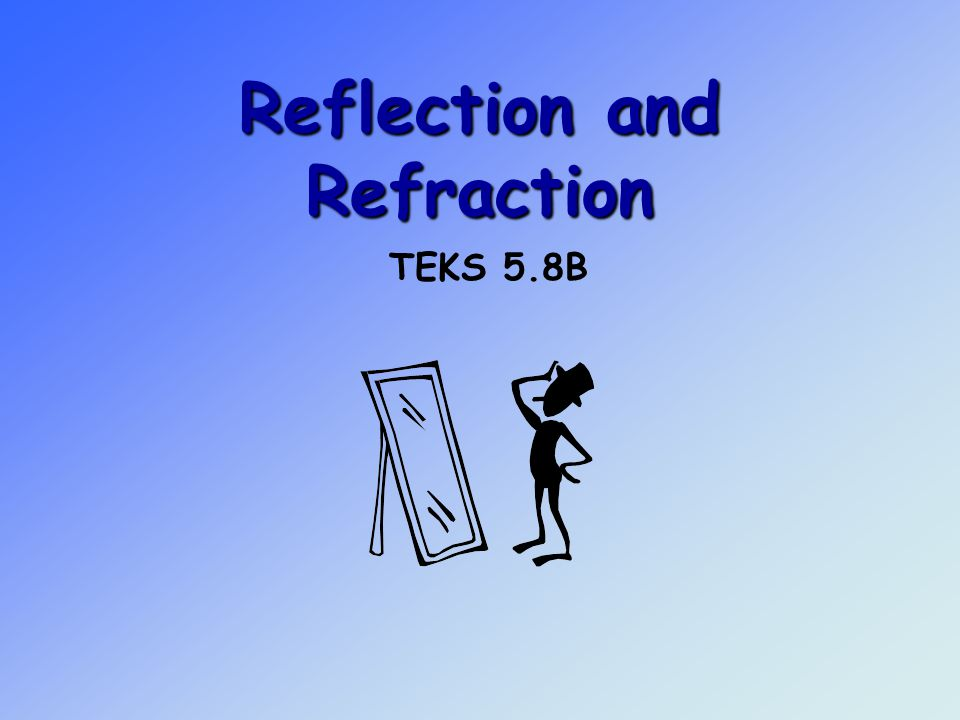 Reflection and Refraction TEKS 5.8B