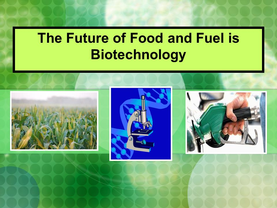 The Future of Food and Fuel is Biotechnology