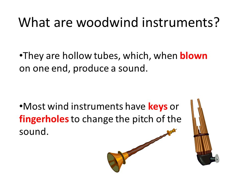 What are woodwind instruments.