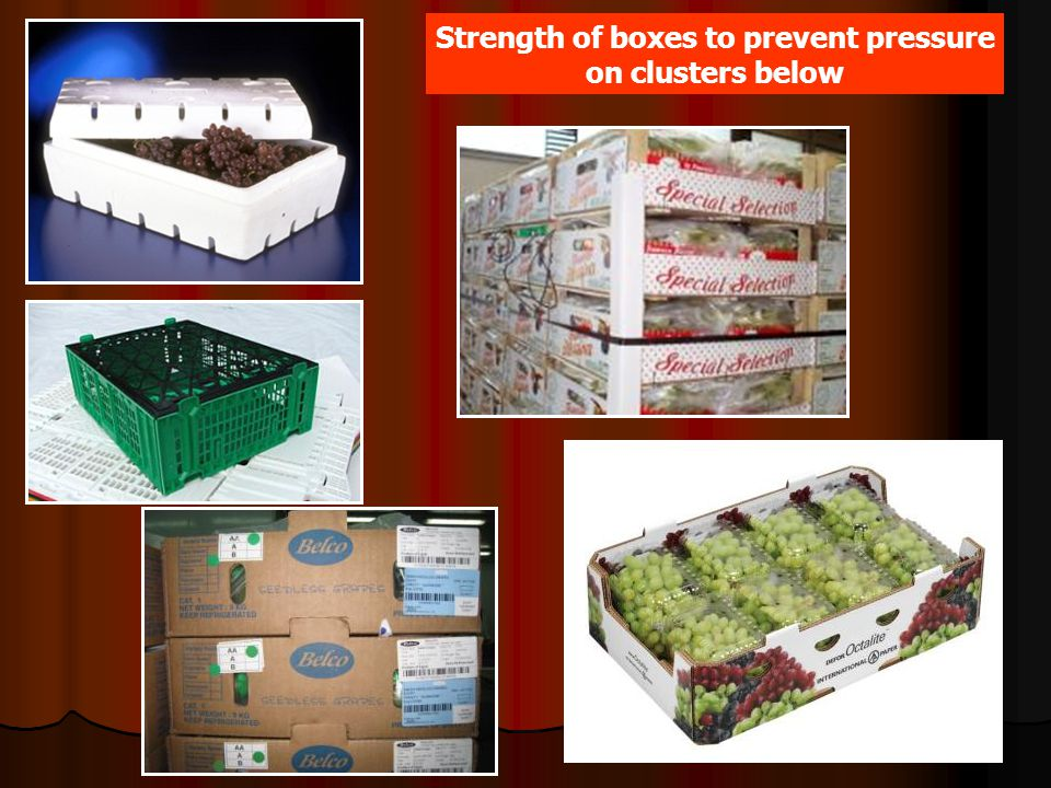 Strength of boxes to prevent pressure on clusters below