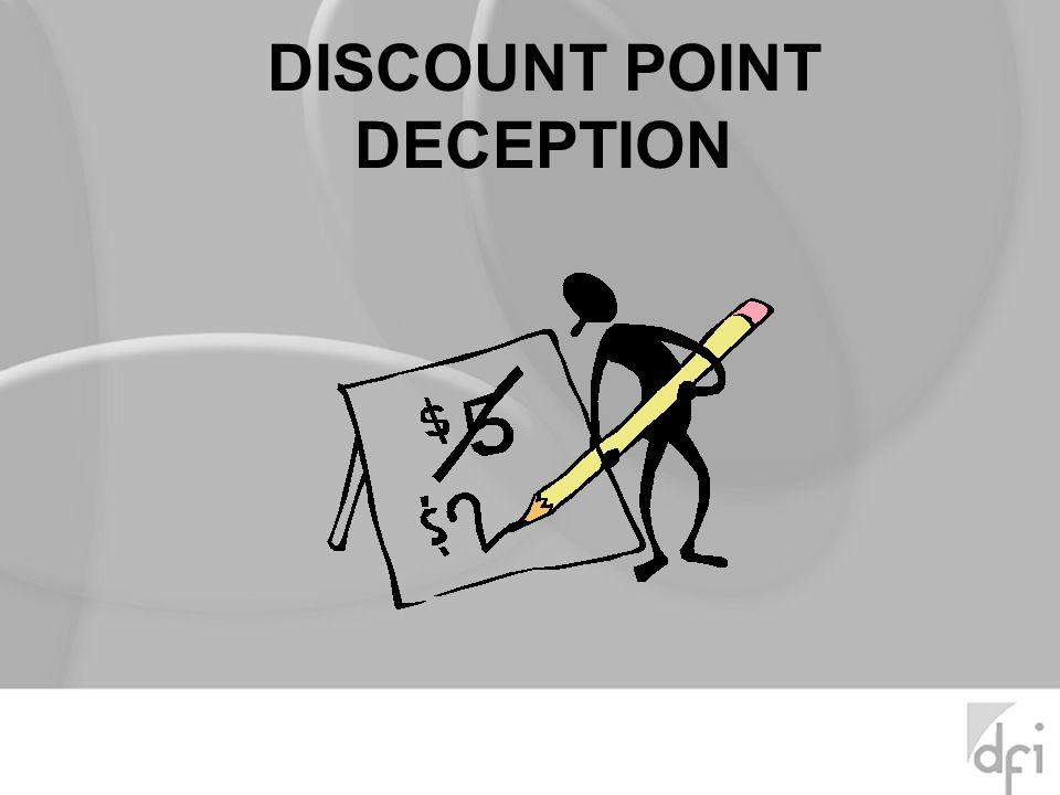 DISCOUNT POINT DECEPTION