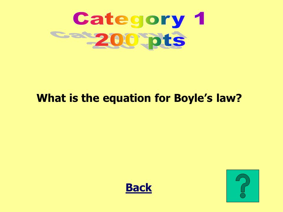 What is the equation for Boyle's law