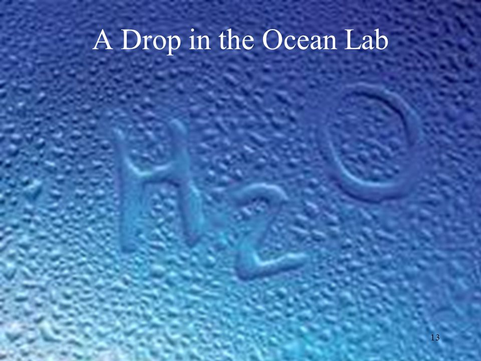 13 A Drop in the Ocean Lab