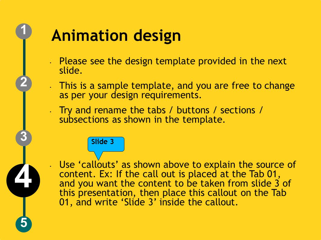 Animation design Please see the design template provided in the next slide.