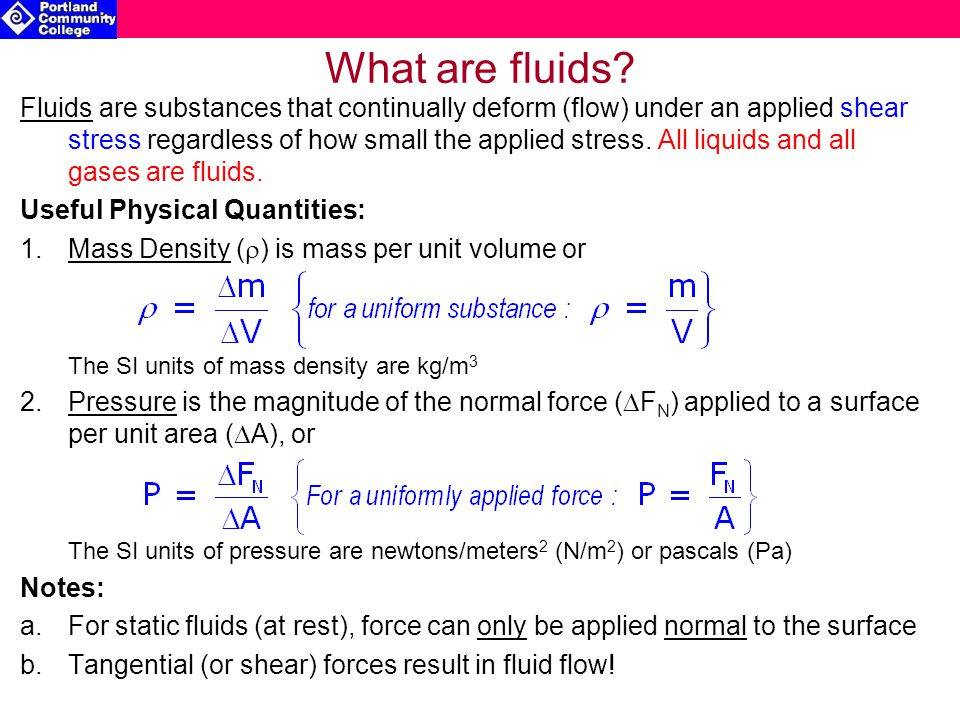 What are fluids.