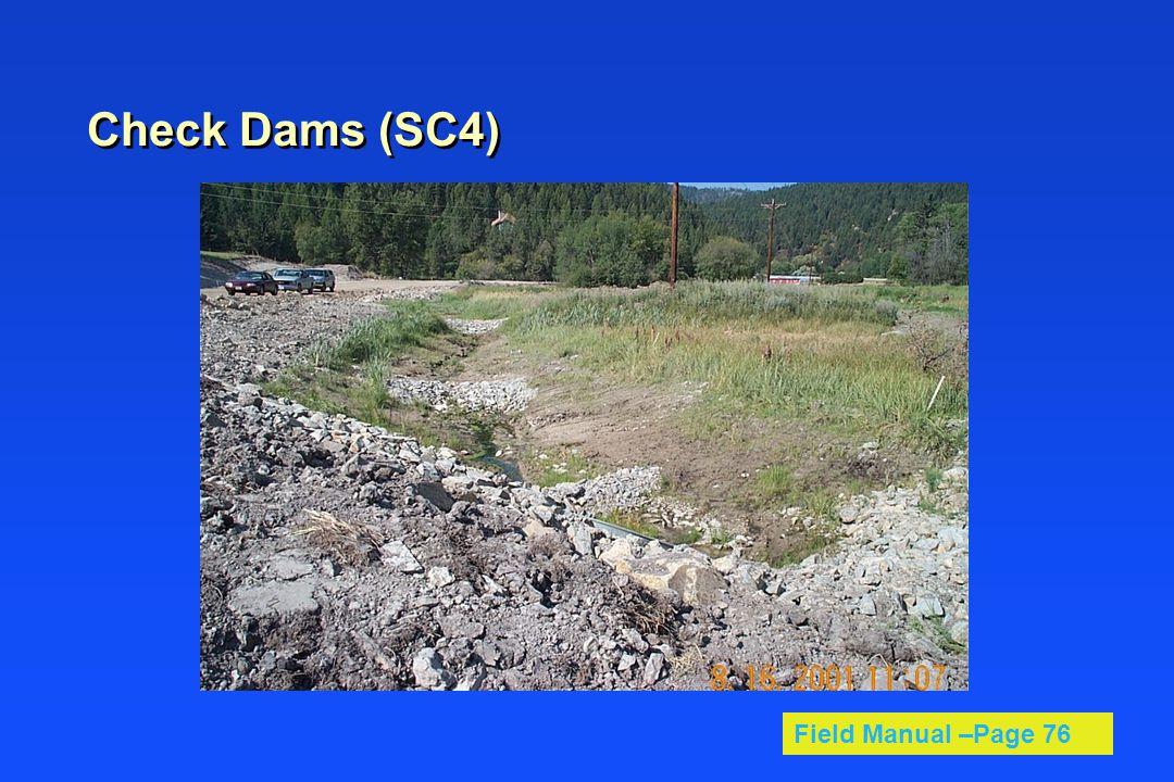 Check Dams (SC4) Field Manual –Page 76