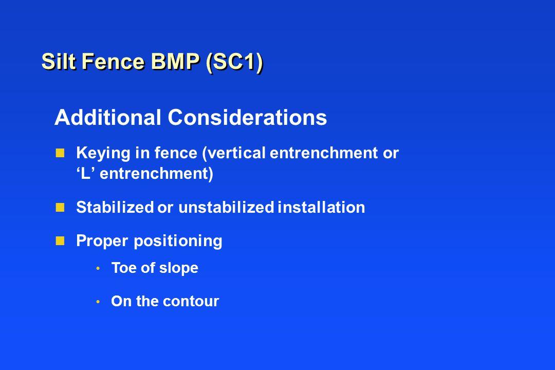 Silt Fence BMP (SC1)