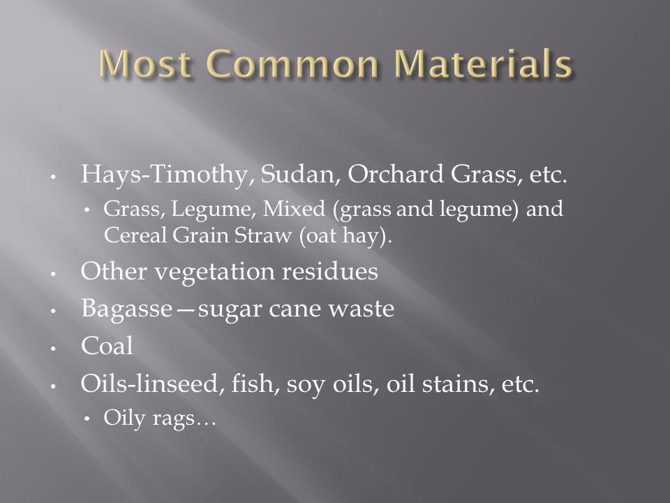 Hays-Timothy, Sudan, Orchard Grass, etc.