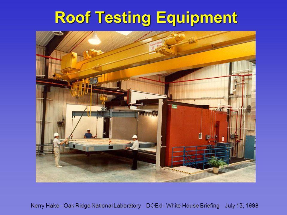 Kerry Hake - Oak Ridge National Laboratory DOEd - White House Briefing July 13, 1998 Roof Testing Equipment