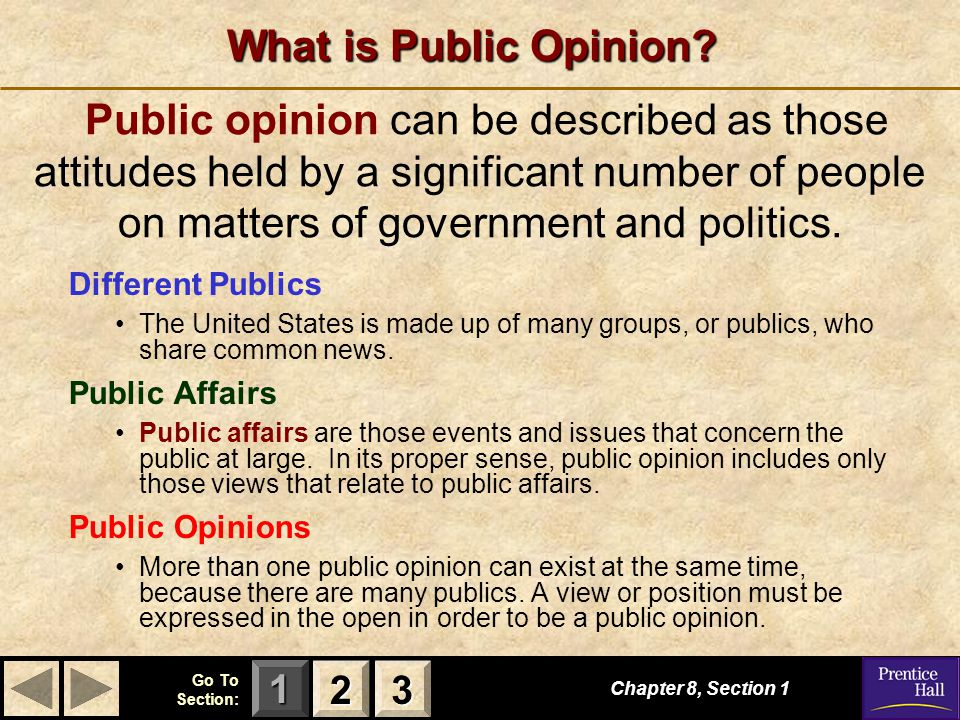 123 Go To Section: Chapter 8, Section 3 The Mass Media S E C T I O N 3 The Mass Media How does the mass media fulfill its role to provide the public with political information.