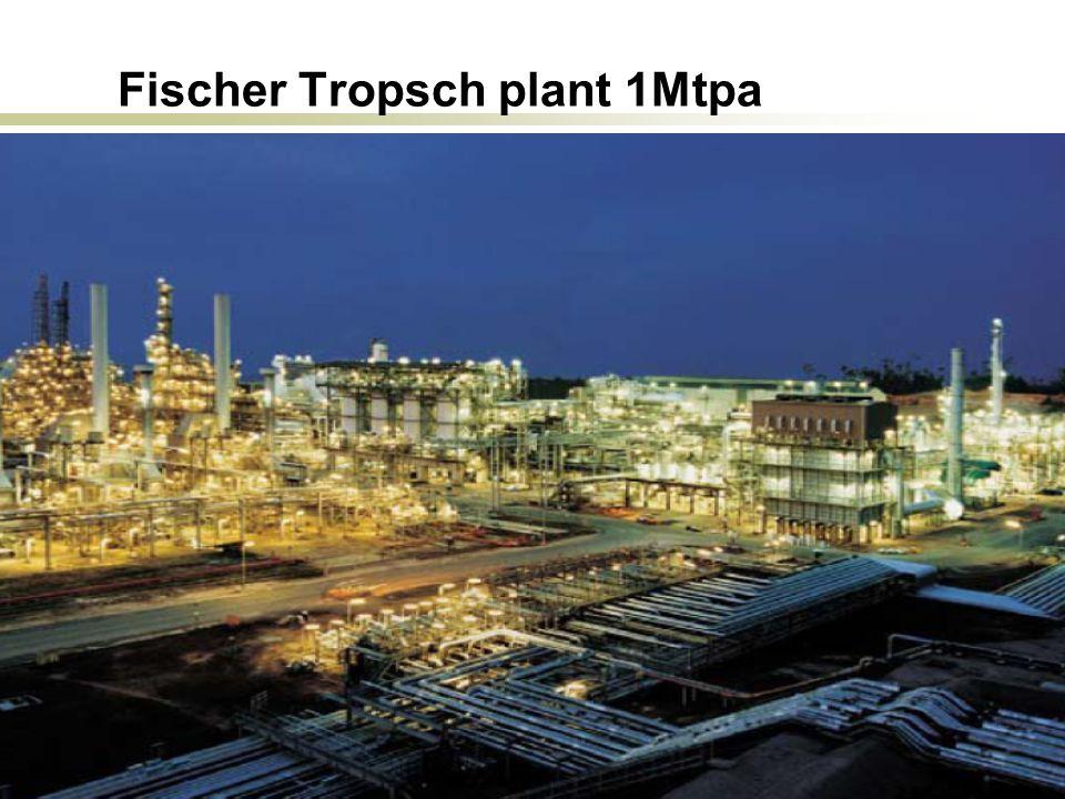 Peck, Lund, Oct. 2009 32 Fischer Tropsch plant 1Mtpa