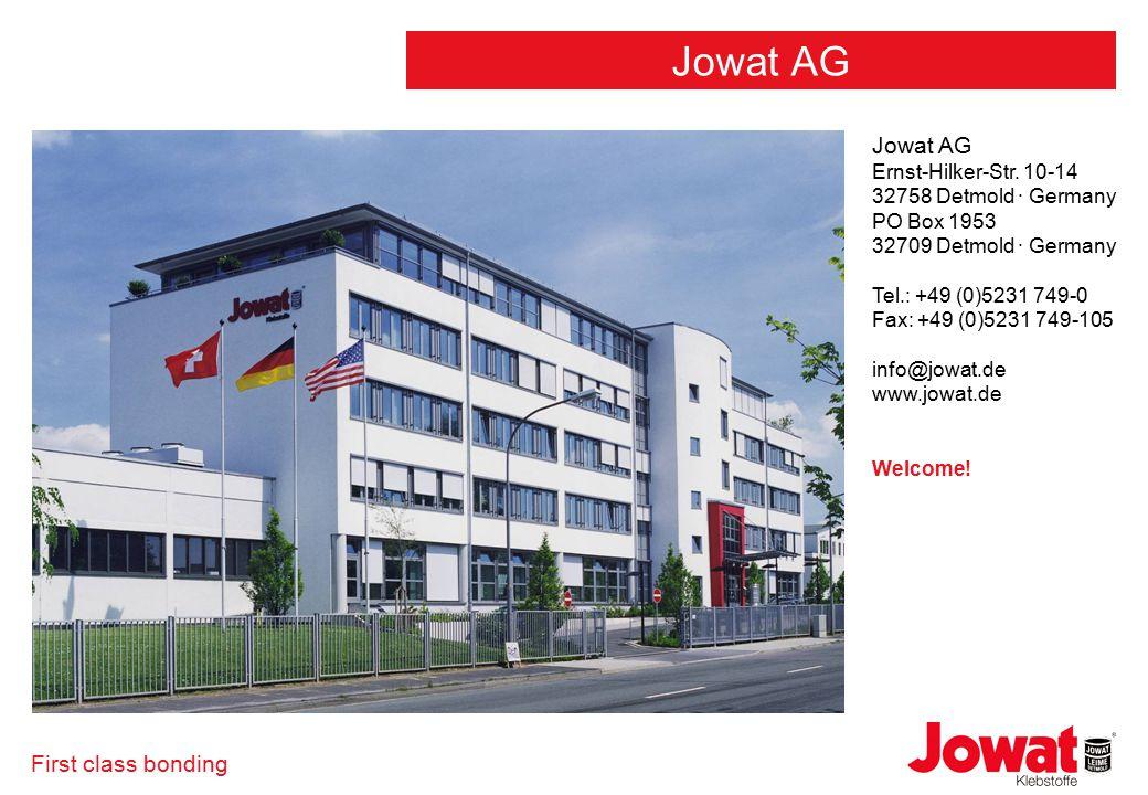 First class bonding Jowat AG Ernst-Hilker-Str.