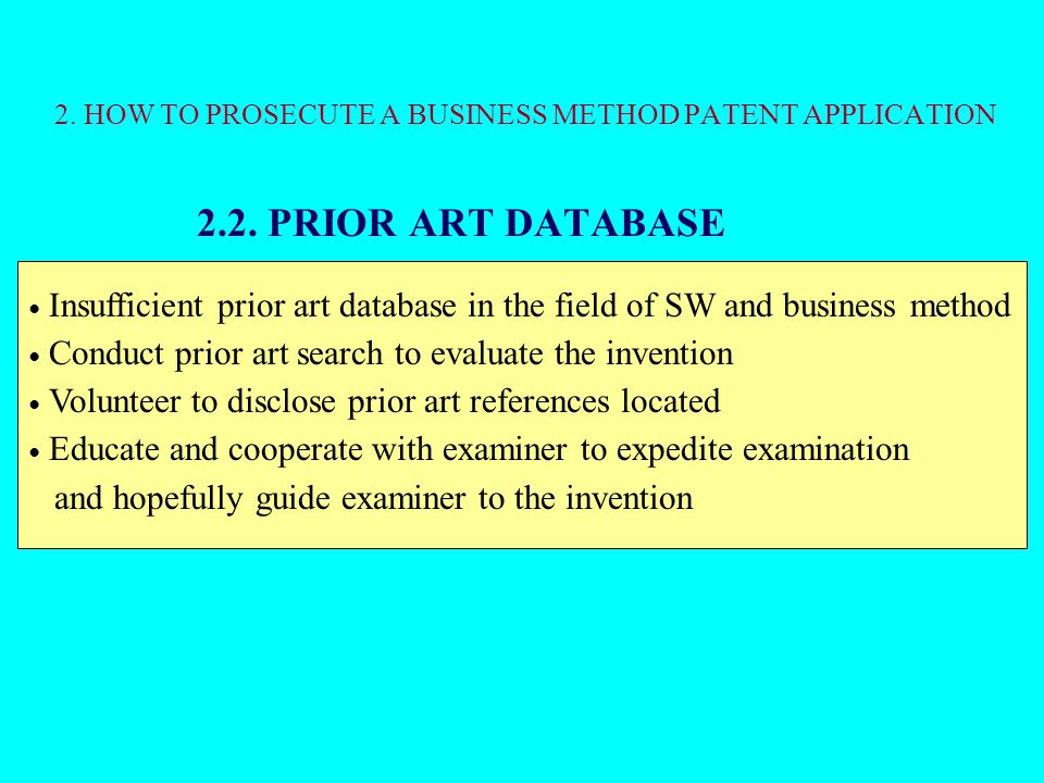 2.2.PRIOR ART DATABASE 2.