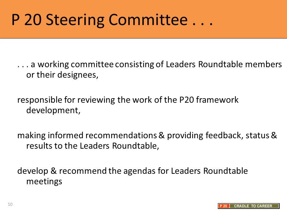 P 20 Steering Committee......