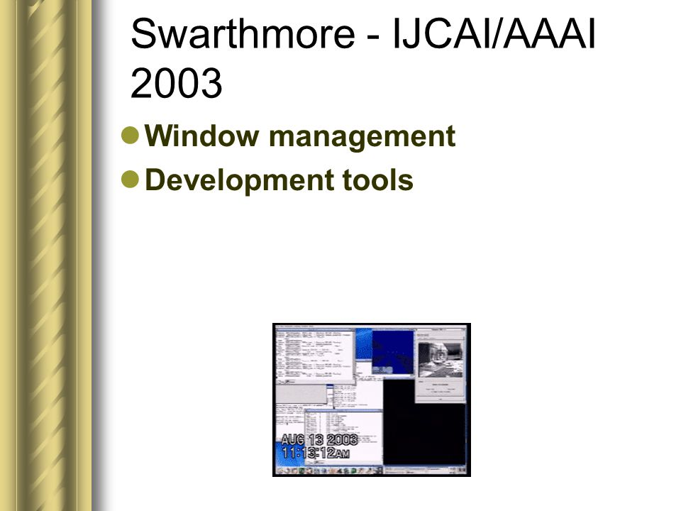 Window management Development tools