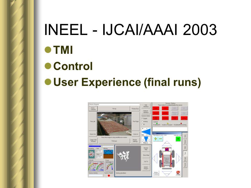 TMI Control User Experience (final runs)